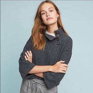 Eri + Ali Meyer Buttoned Pullover in Gray